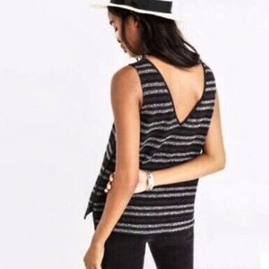 Madewell | Striped Terry V Back Tank Top